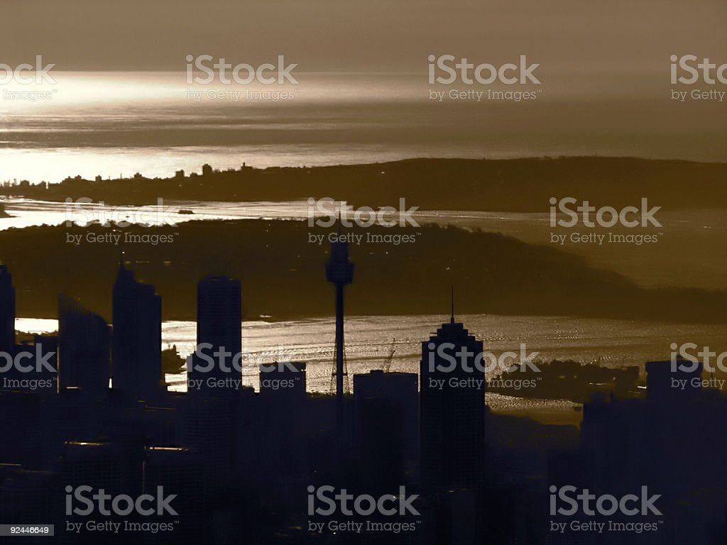 Sydney Silouette royalty-free stock photo