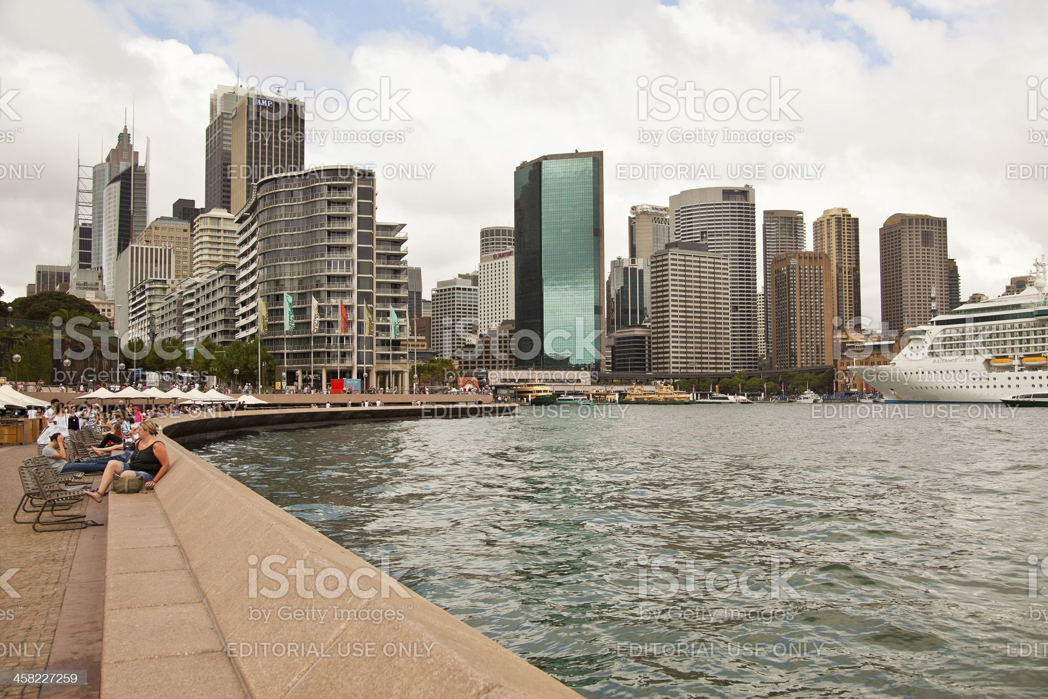 Sydney Skyline and Circular Quay royalty-free stock photo