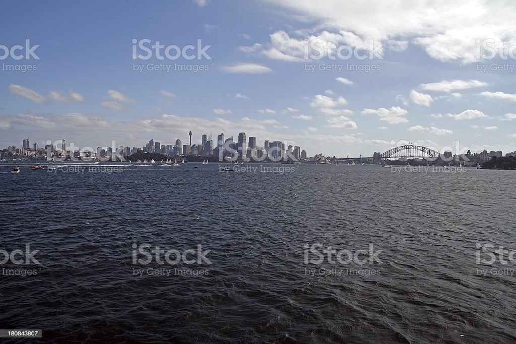 Sydney Skyline And Opera House royalty-free stock photo