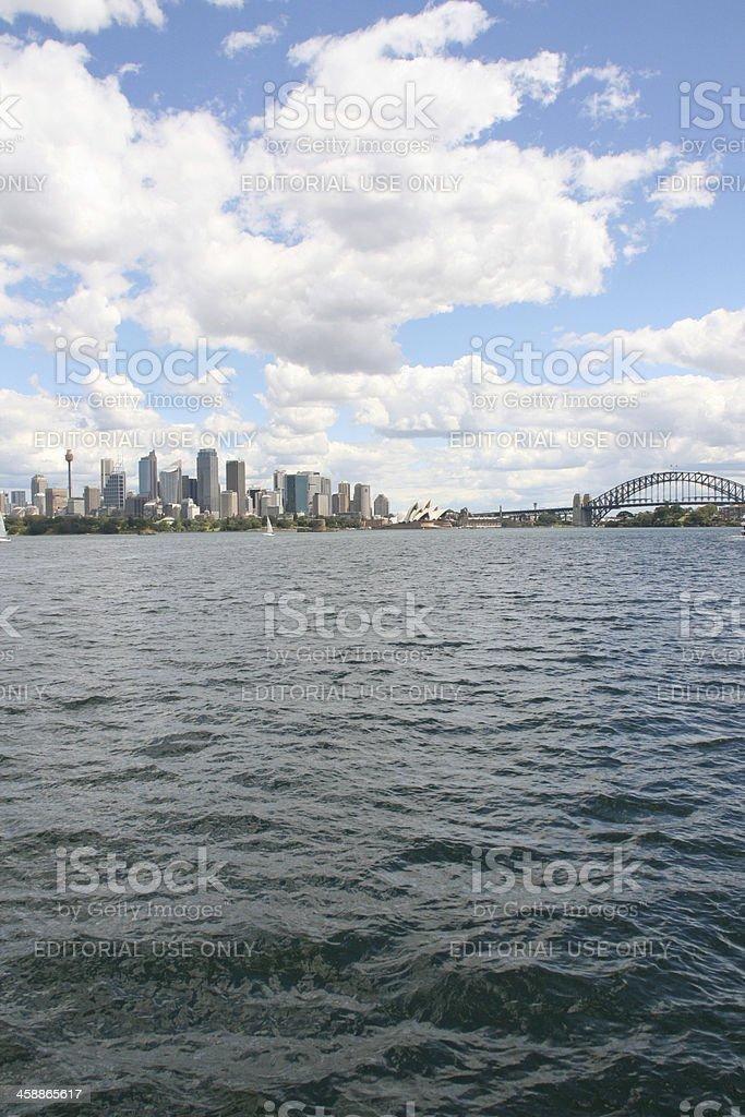 Sydney Skyline And Opera House. royalty-free stock photo