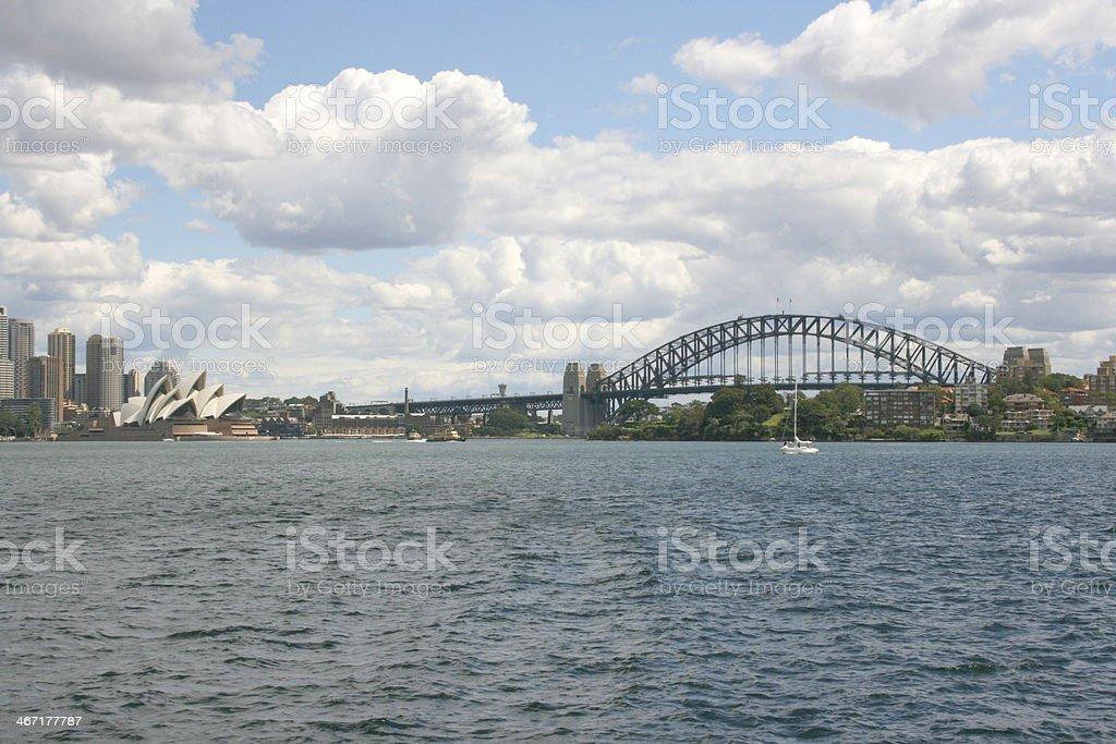 Sydney Skyline And Opera House royalty-free stock photo