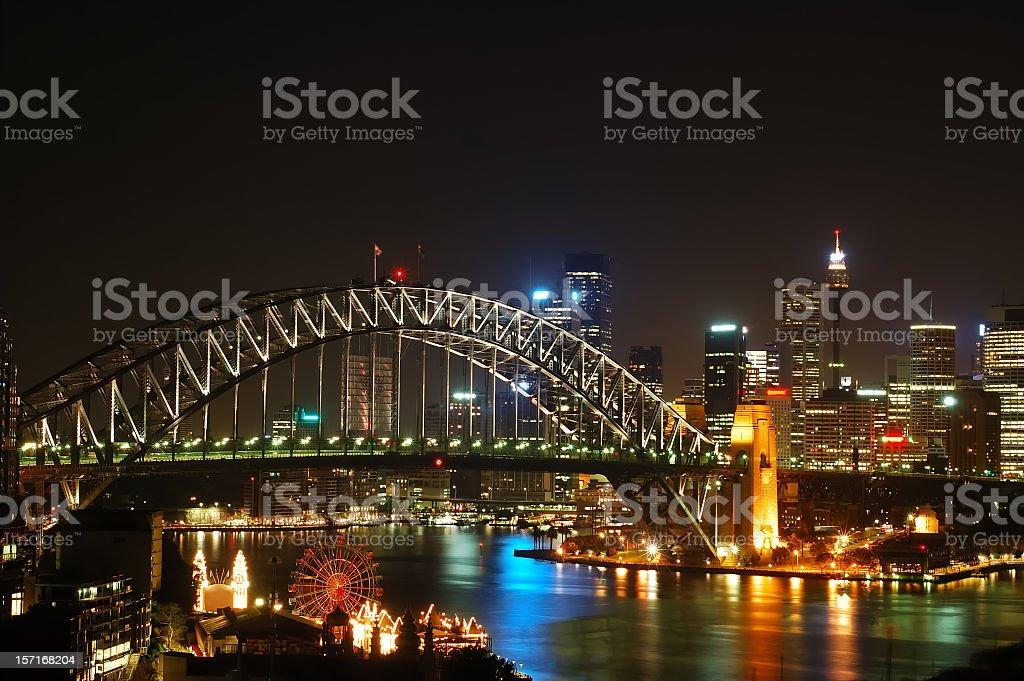 Sydney Skyline at night royalty-free stock photo