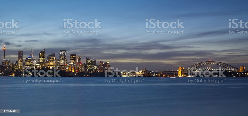 Sydney Skyline - Bradley's Head Panorama royalty-free stock photo