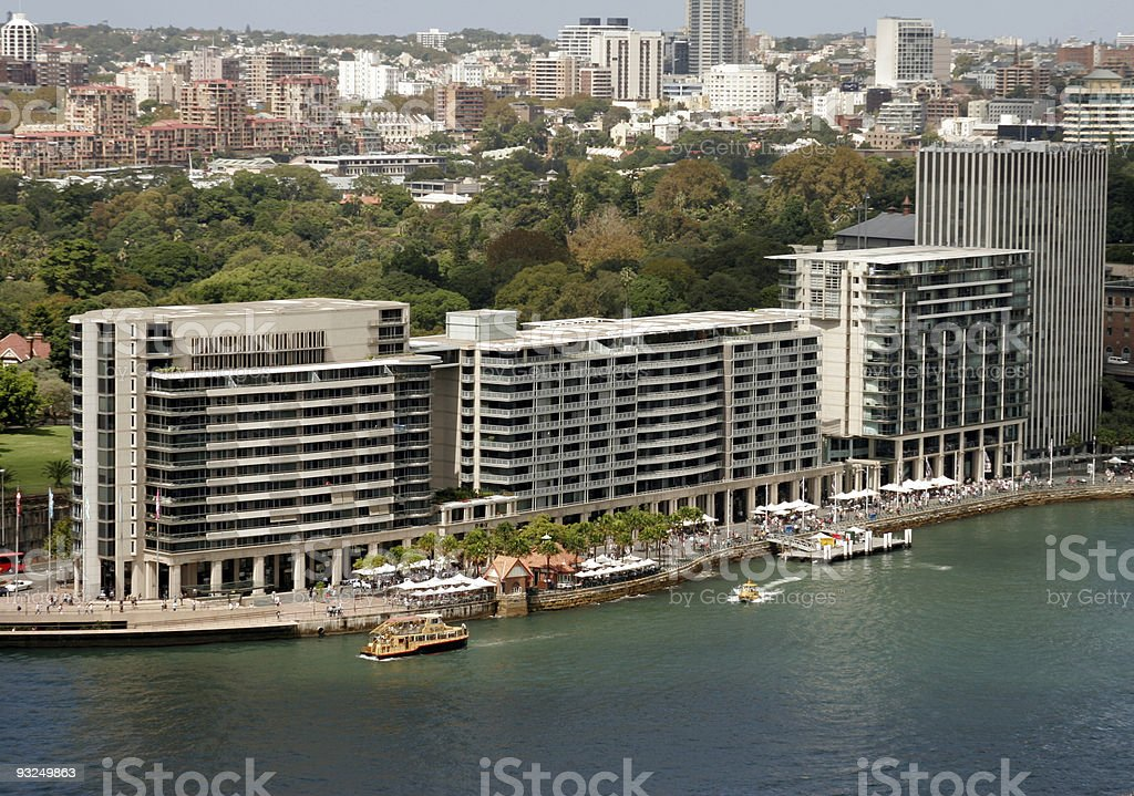 Sydney skyline - Circuar Quay royalty-free stock photo