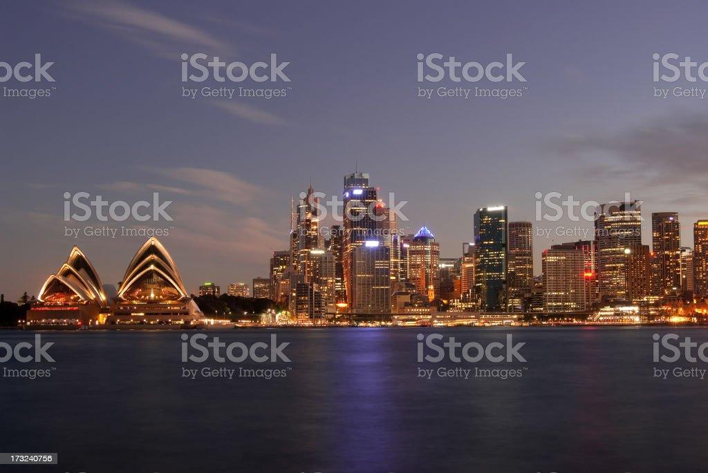 Sydney Skyline - Kirribilli (Purple #2) royalty-free stock photo