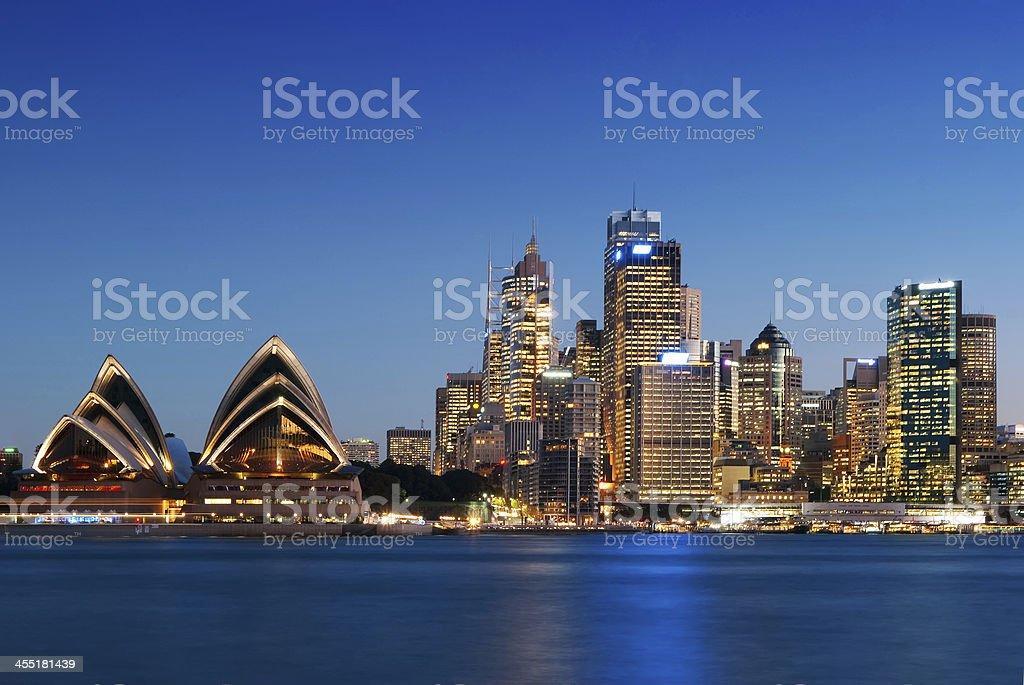 Sydney Skyline - Kirribilli (Blue) stock photo