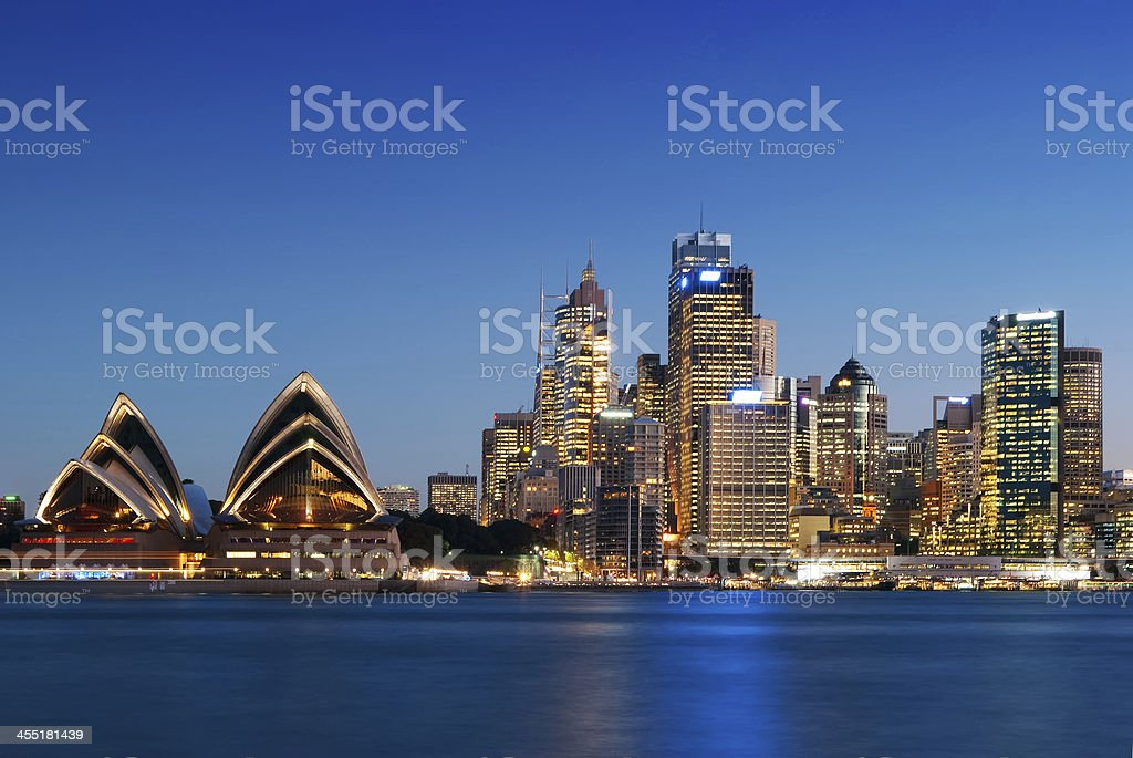 Sydney Skyline - Kirribilli (Blue) stock photo