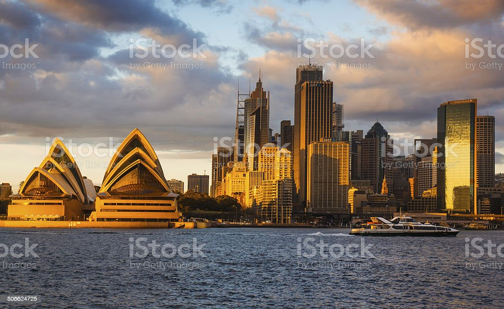 Sydney Skyline - Kirribilli (Gold) stock photo