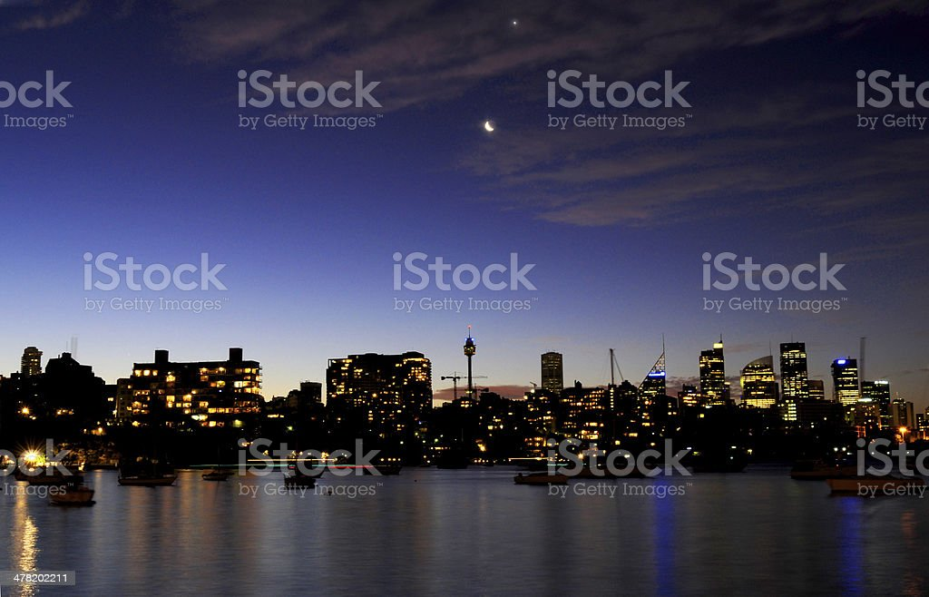 Sydney Skyline on New Year's Eve stock photo