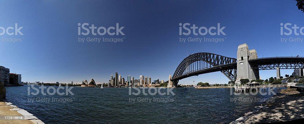 Sydney skyline panorama royalty-free stock photo