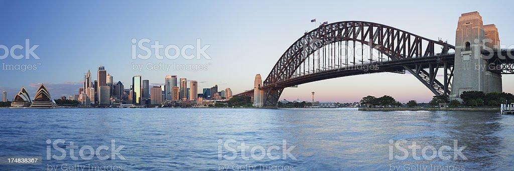 Sydney Skyline Panorama stock photo