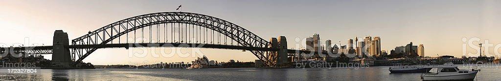 sydney skyline panoramic stock photo