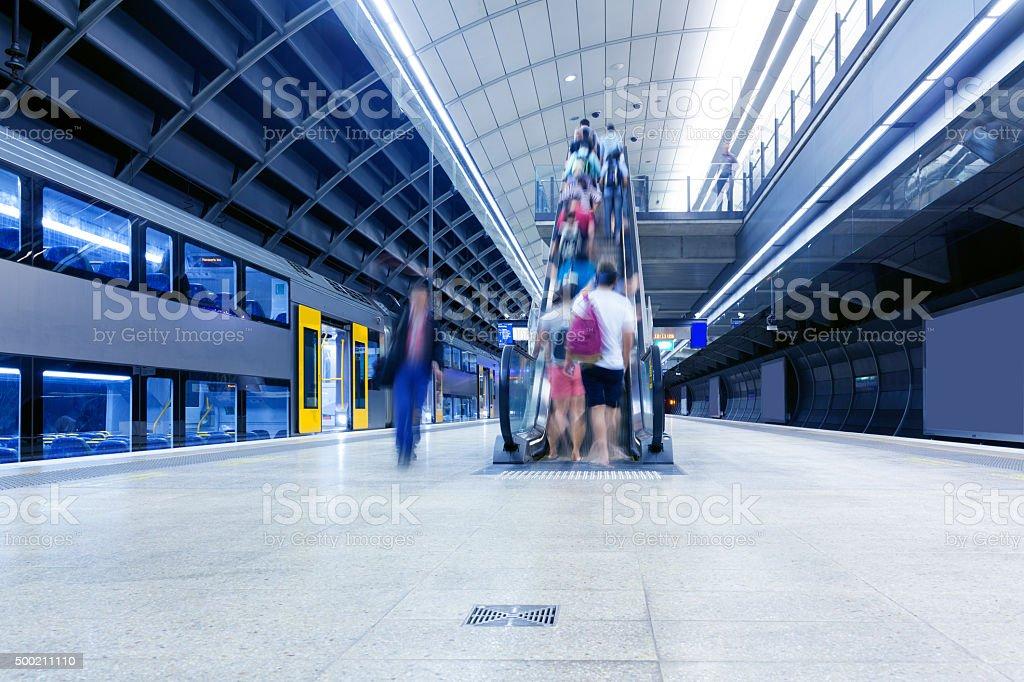 Sydney subway platform stock photo