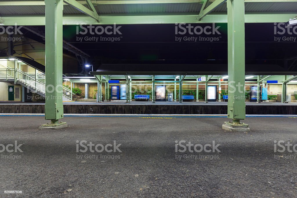Sydney subway station stock photo