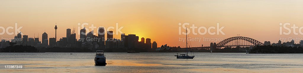 Sydney sunset panorama royalty-free stock photo
