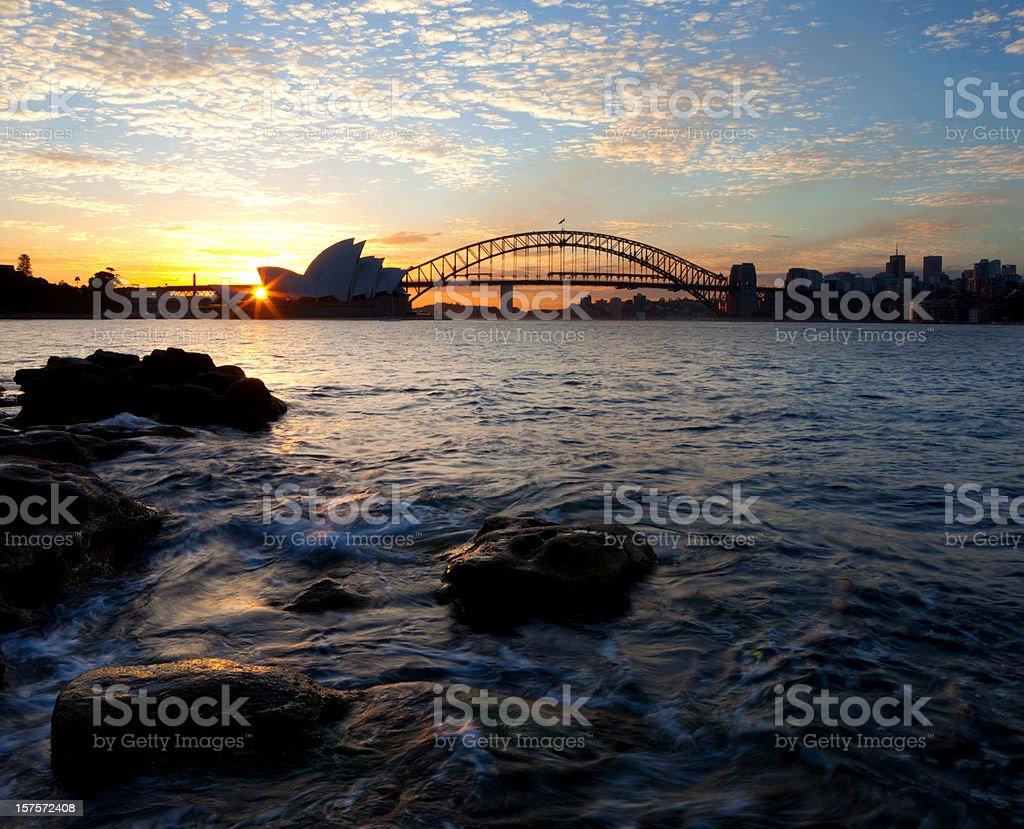 Sydney Sunset royalty-free stock photo