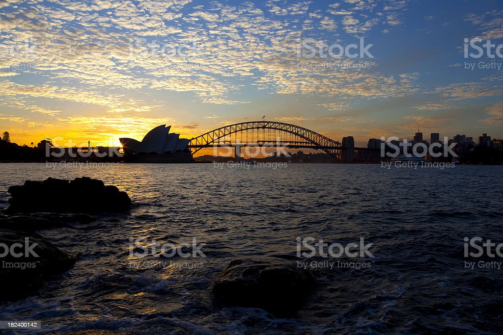 Sydney Sunset royalty-free stock photo