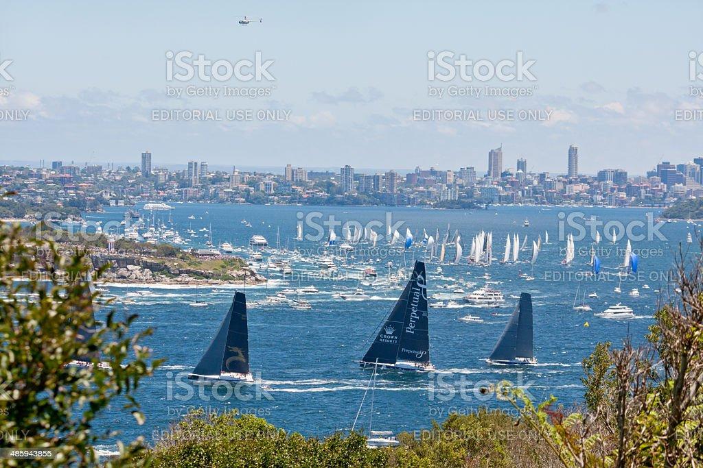 Sydney to Hobart yacht race 2013 stock photo
