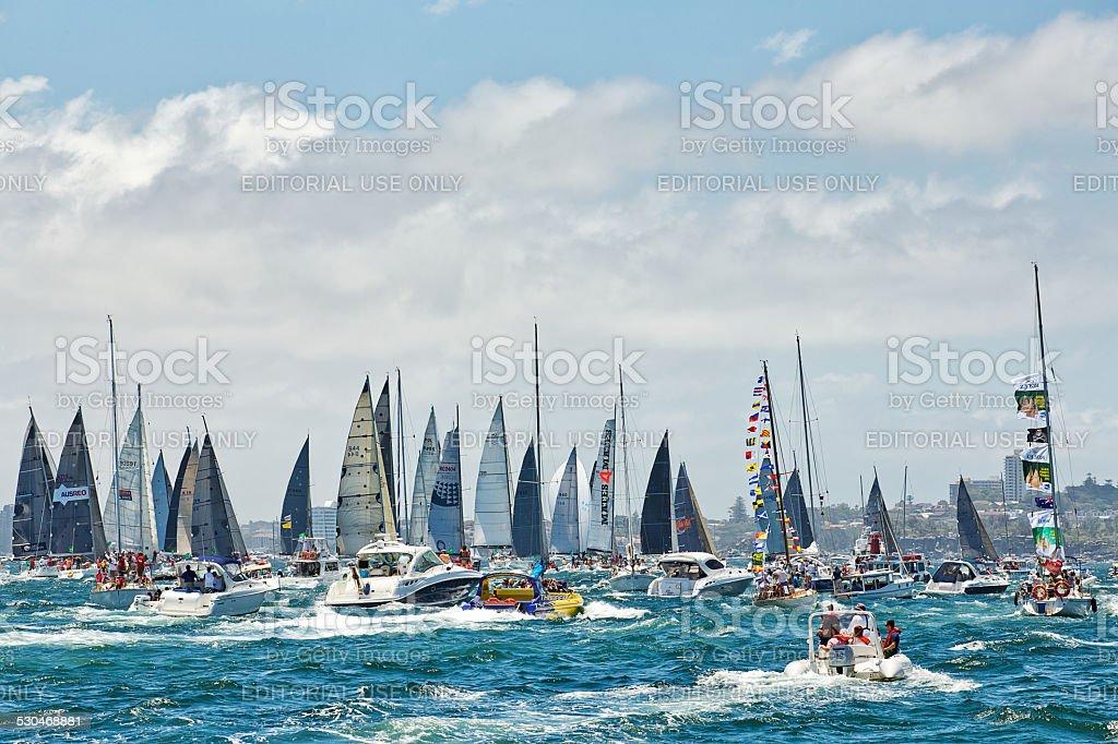 Sydney to Hobart yacht race stock photo