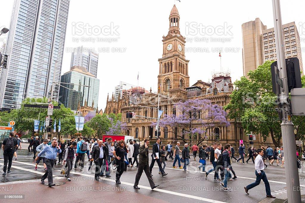 Sydney Town Hall, Sydney Australia stock photo