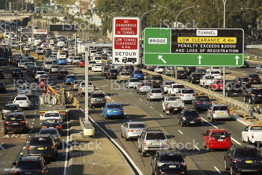 Sydney Traffic stock photo