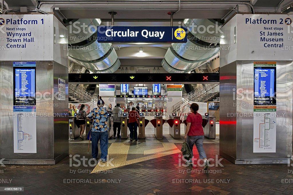 Sydney Train Station royalty-free stock photo