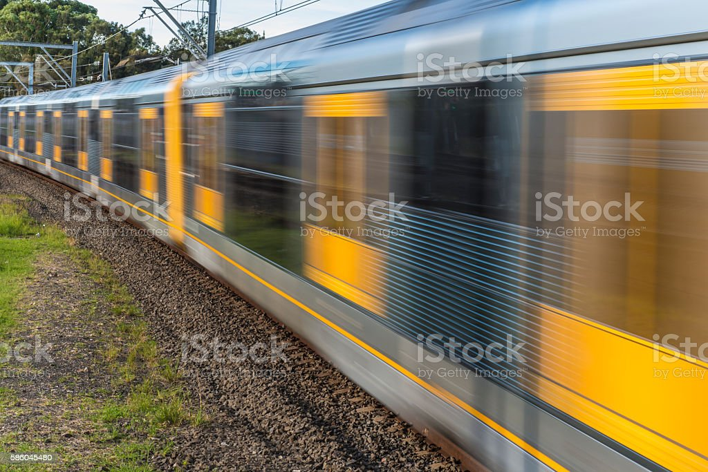 Sydney Train,Australia Speed Motion Blur stock photo