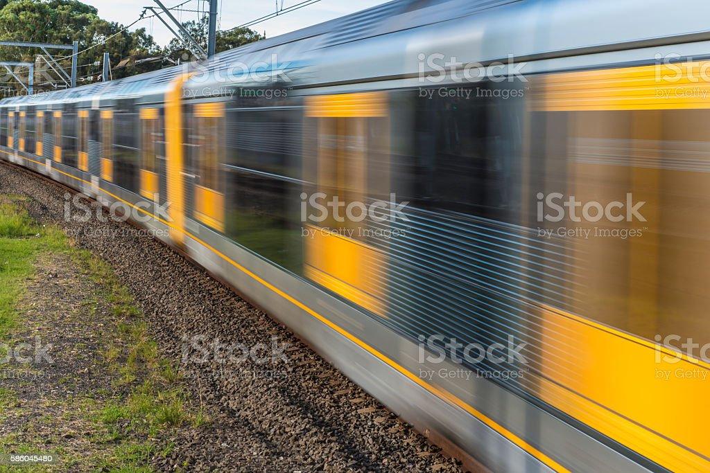 Sydney Train,Australia Speed Motion Blur stock photo