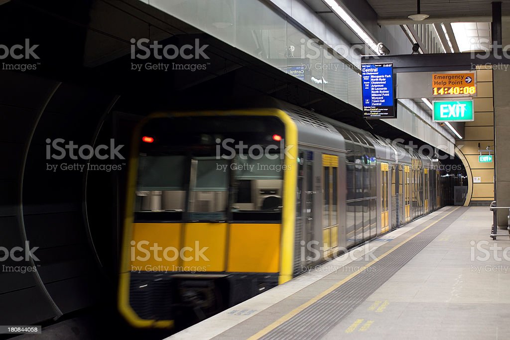 Sydney Trains (formerly CityRail) royalty-free stock photo