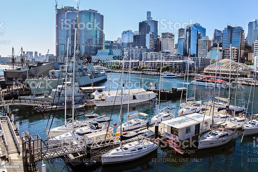 Sydney,Darling Harbour and Maritime Museum stock photo
