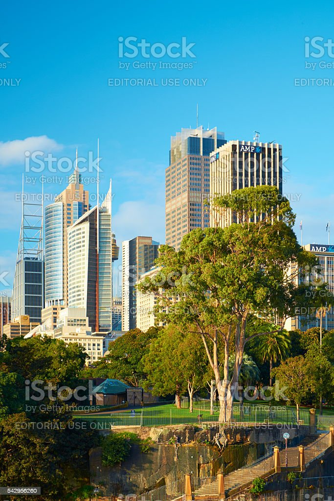 Sydney's Botanic Gardens And CBD stock photo