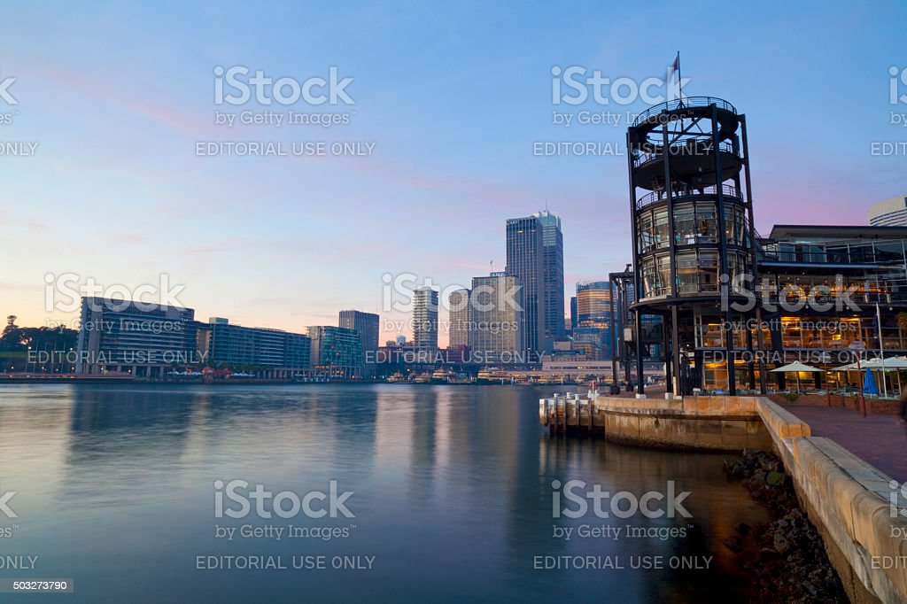Sydney's Circular Quay At Dawn stock photo