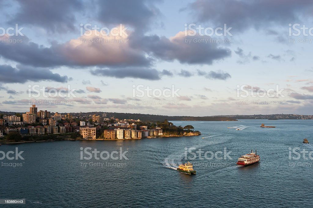 Sydney's Harbour at Sunset, Australia royalty-free stock photo