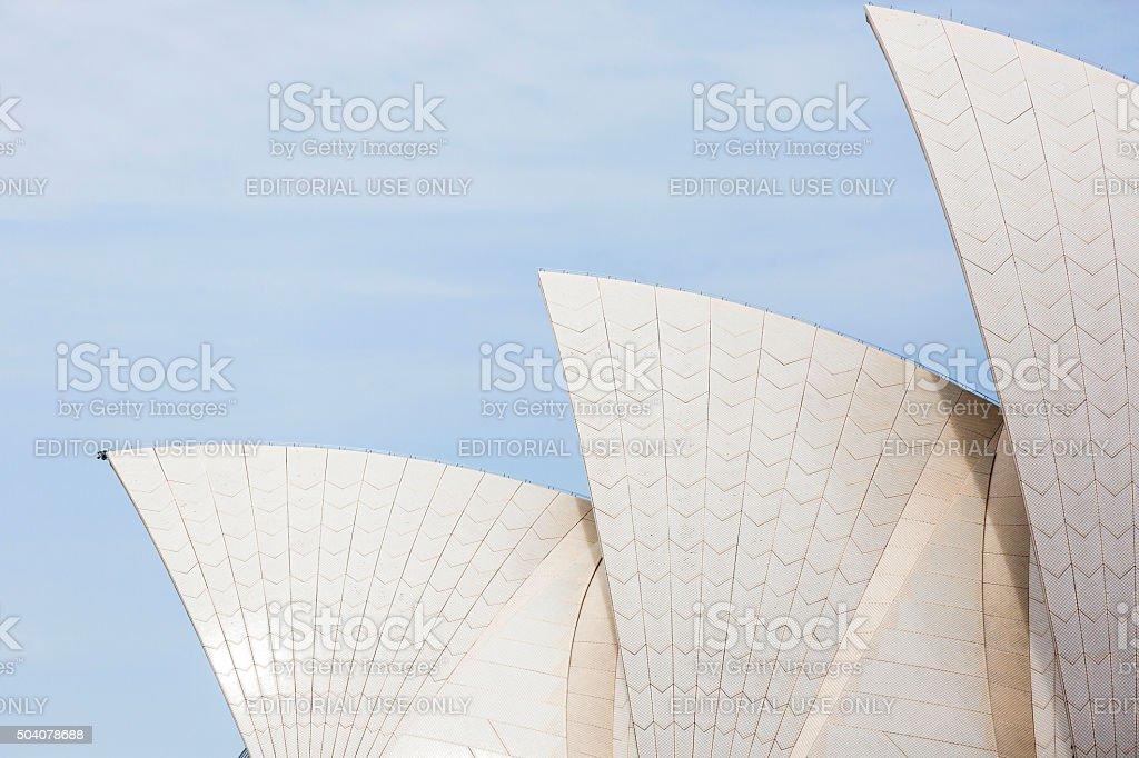 Sydney's Opera House against blue sky, copy space stock photo