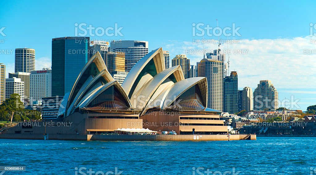 Sydney's Opera House And City Skyline stock photo
