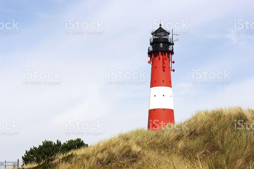 sylt / h?rnum / leuchtturm royalty-free stock photo