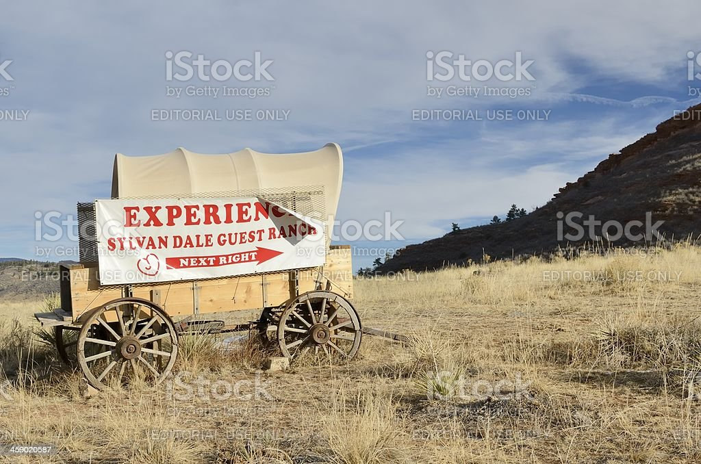 Sylvan Guest Ranch outside of Loveland stock photo