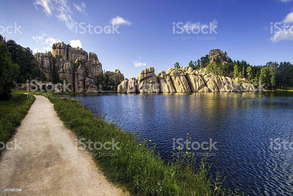 Sylvan Lake, Black Hills national forest, South Dakota, USA stock photo
