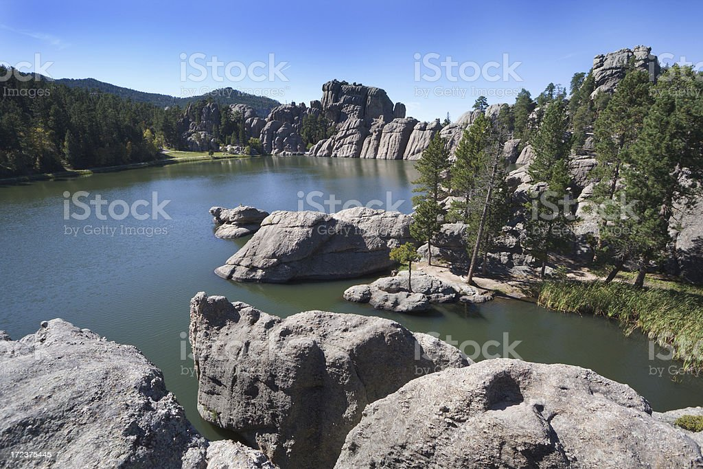 Sylvan Lake - Custer State Park royalty-free stock photo