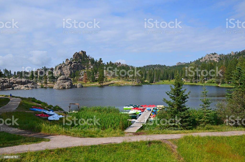 Sylvan Lake recreation stock photo