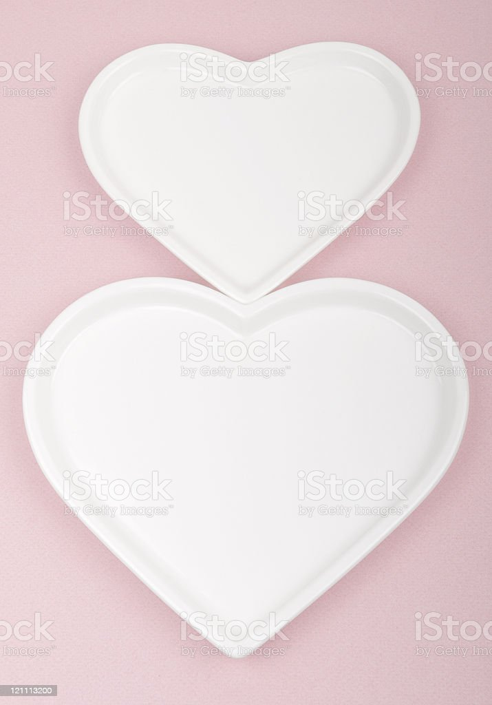 Symbiosis of Two Hearts royalty-free stock photo