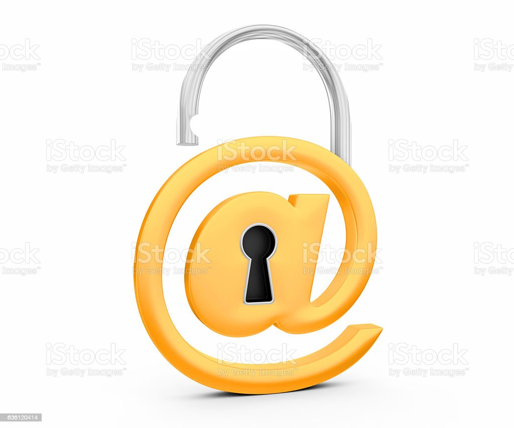 @ symbol as opened padlock stock photo