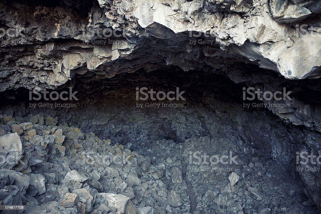 Symbol Bridge Cave at Lava Beds National Monument royalty-free stock photo