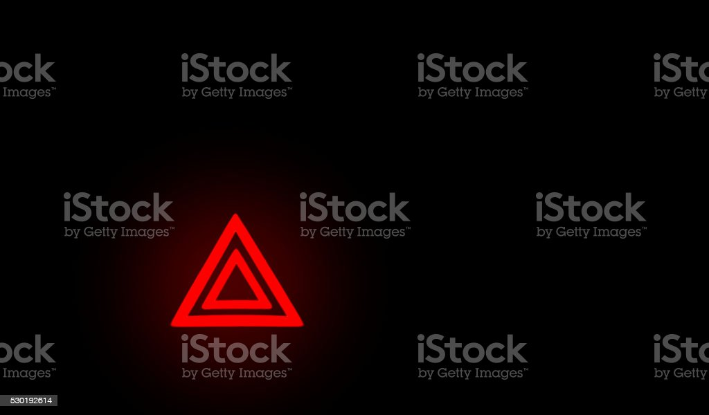 Symbol emergency stop car stock photo