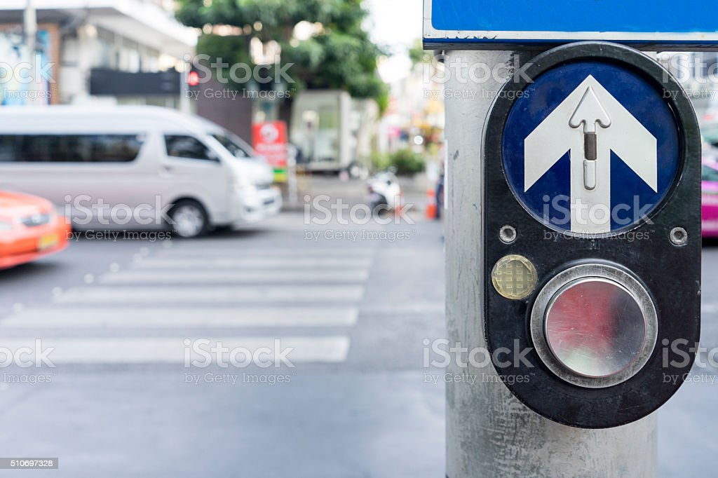 Symbol for person at the traffic light stock photo