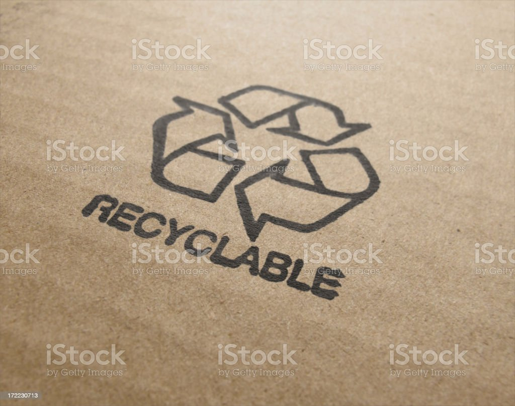 Symbol for refuse reuse recycle royalty-free stock photo