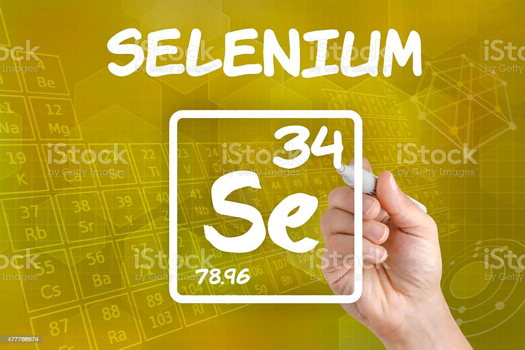Symbol for the chemical element selenium stock photo