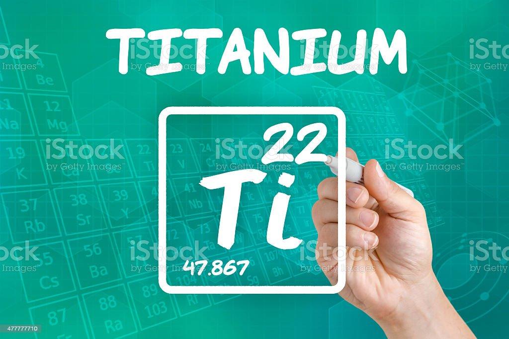 Symbol for the chemical element titanium stock photo