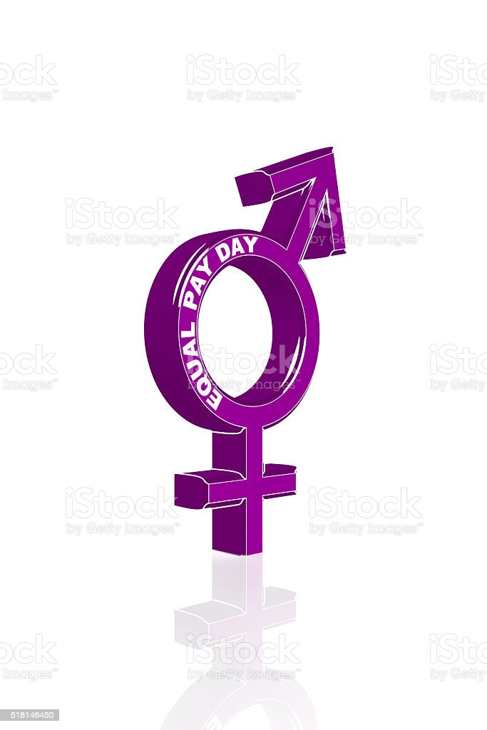Symbol for the Equality between Man and Woman stock photo