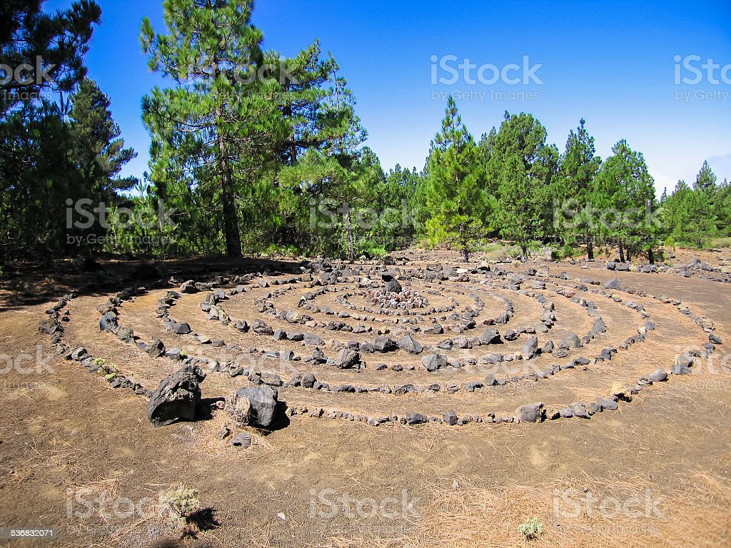 symbol made of stones stock photo